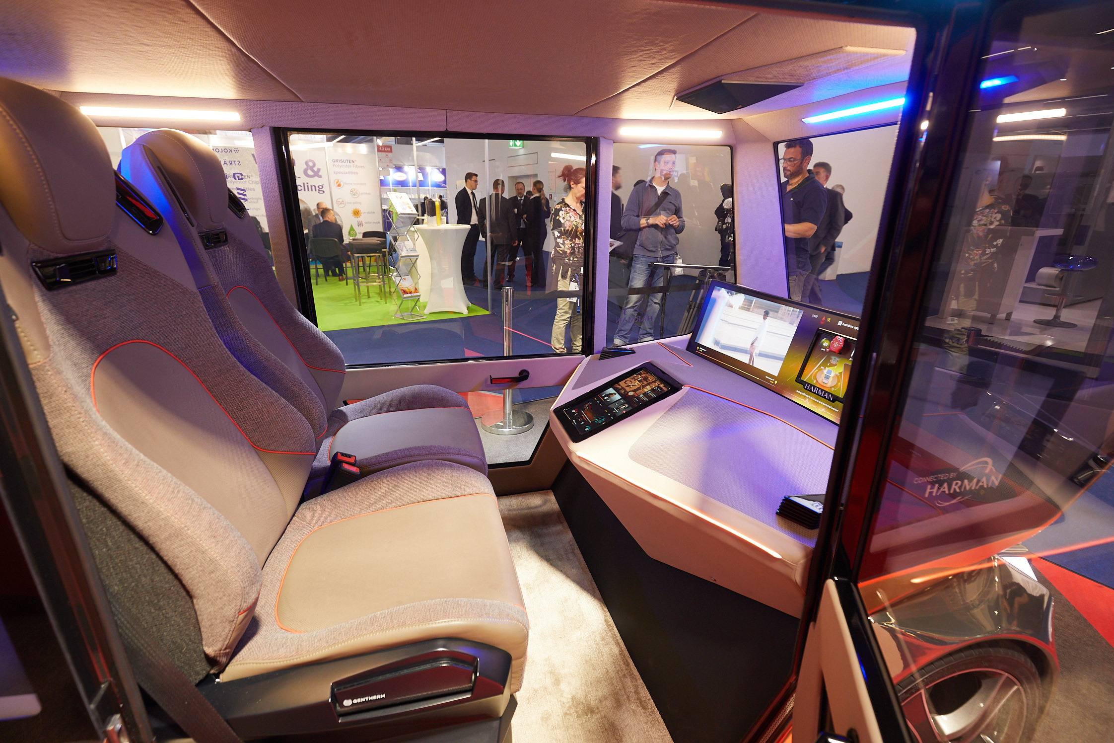 Mobiltech: Concept e-car with sustainable seats made with alpaca yarns