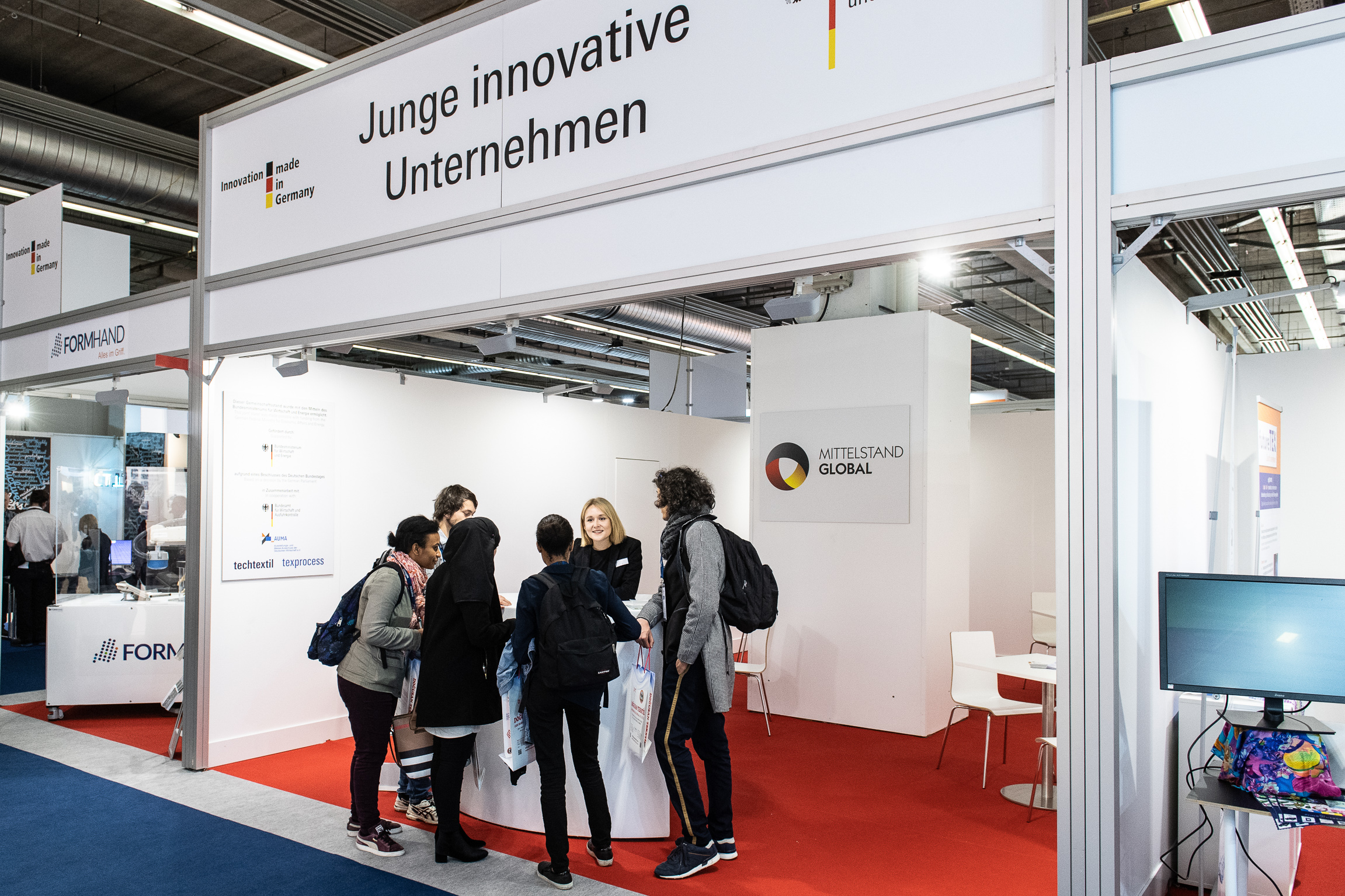 Young innovative companies area during the last Techtextil